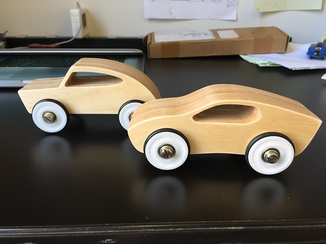 CNCd Toy Cars