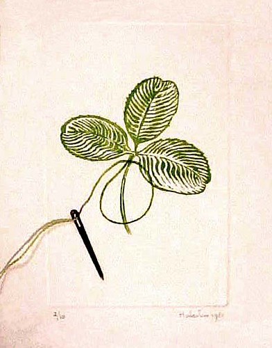 Etching III - cloverleaf with 4 leaves 1981