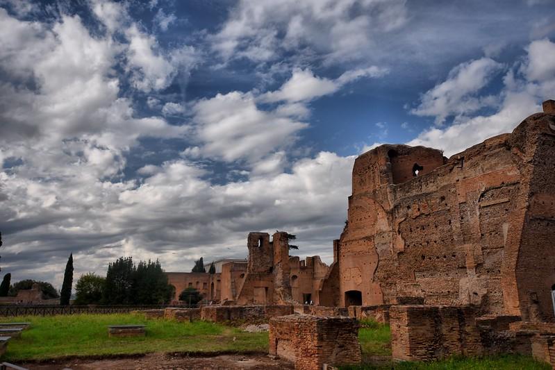 Ruinas en el Monte Palatino de Roma