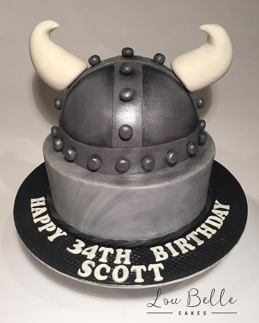Viking Helmet Cake by Lou Belle Cakes