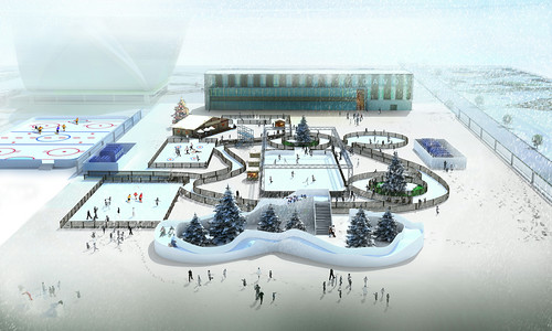 Bruslařská aréna Eistraum Davos