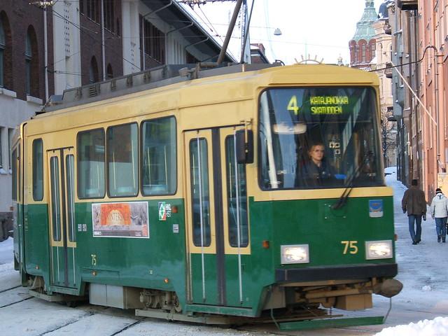 Qué hacer en Helsinki: coger el tranvía