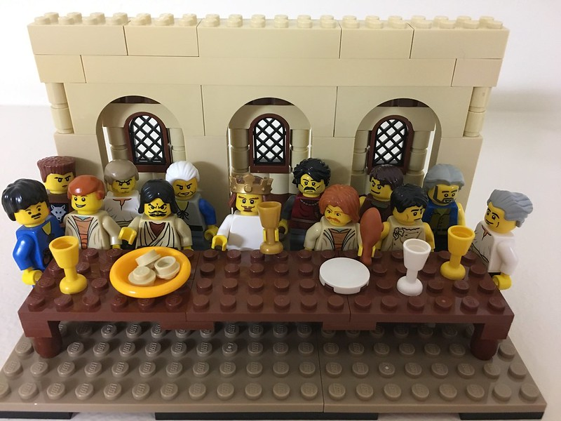 Last Supper Vignette in LEGO