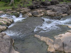 stream, boulder, water, rapid, river, body of water, watercourse, geology, bedrock, wilderness, stream bed, rock,