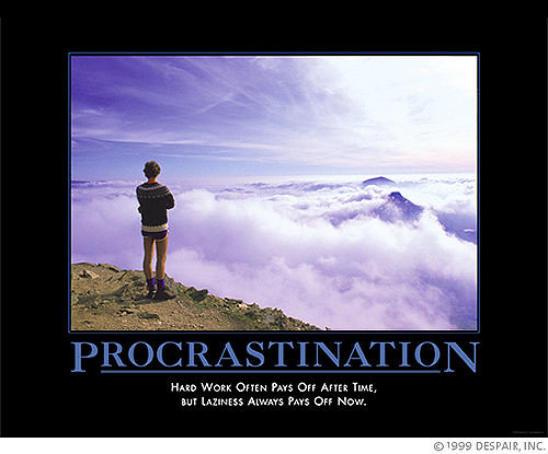 on laziness procrastination and lack of motivation Everyone experiences lack of motivation from time to time staring at a stack of books not wanting to study, seeing a pile of dishes in the sink and not feeling like doing them or skipping going to the gym because you don't feel like it are all signs of lack of motivation  procrastination habit procrastination occurs for a variety of.