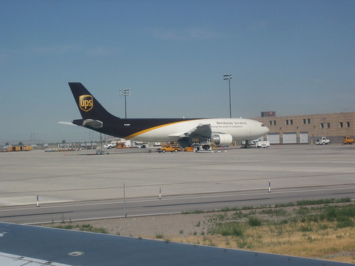 UPS plane sits on the tarmac