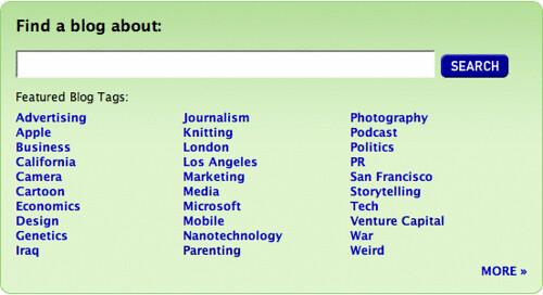 Technorati Blog Finder