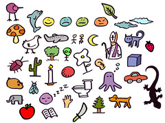 icon(0.0), font(0.0), line(1.0), clip art(1.0), emoticon(1.0), cartoon(1.0), illustration(1.0),