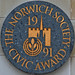 THE NORWICH SOCIETY - CIVIC AWARD 1991