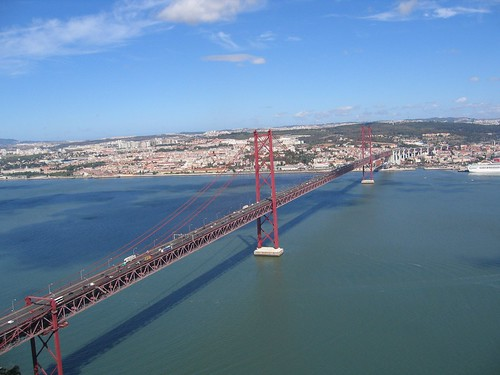 View of Ponte 25 de Abril from Cristo Rei