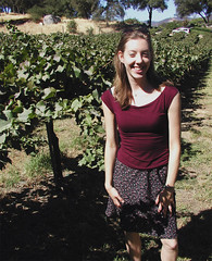Jen in the wine rows at Gold Hill