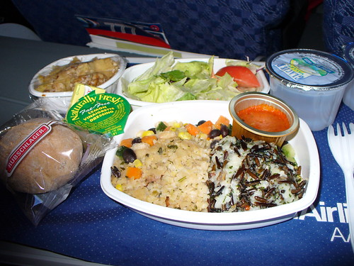 American Airlines Economy Class Vegetarian Dinner