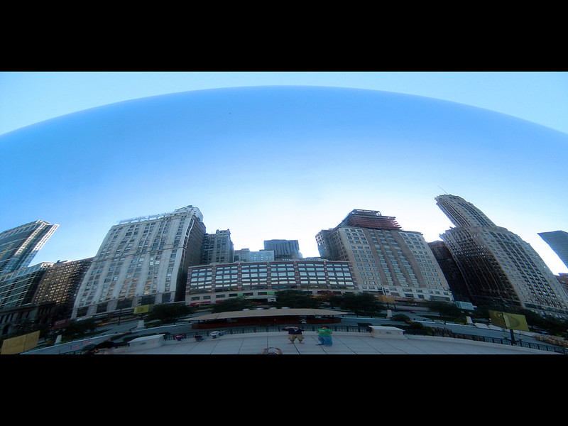 Widescreen! Chicago Buildings Reflection
