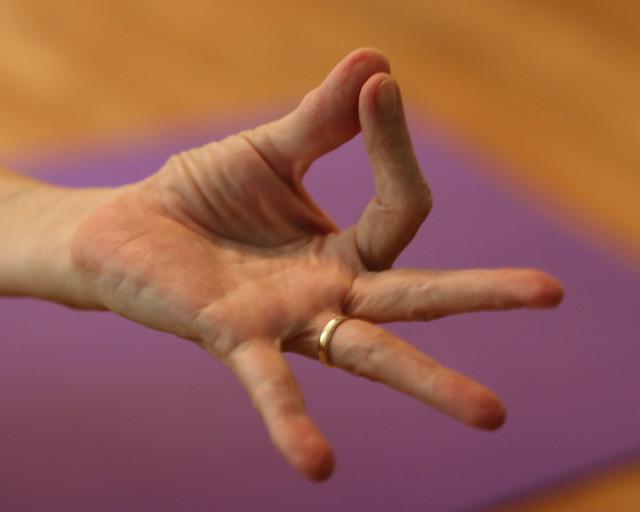Anne's hand