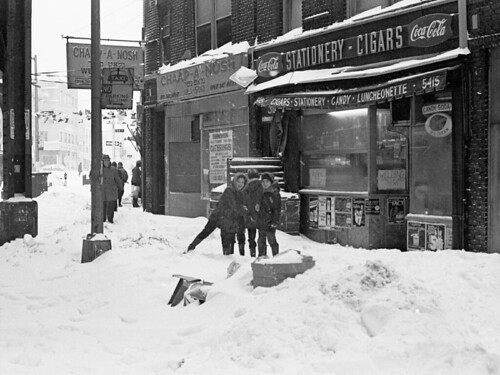 NYC Blizzard of February 6-7, 1978 Brooklyn, Boro Park, New Utrecht Ave - 01