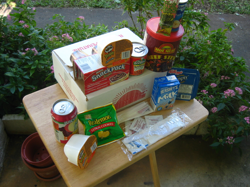 hurricane relief snacks