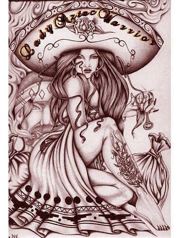 lady aztec warrior graphic flickr photo sharing. Black Bedroom Furniture Sets. Home Design Ideas