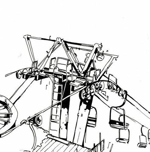 ski lift coloring pages