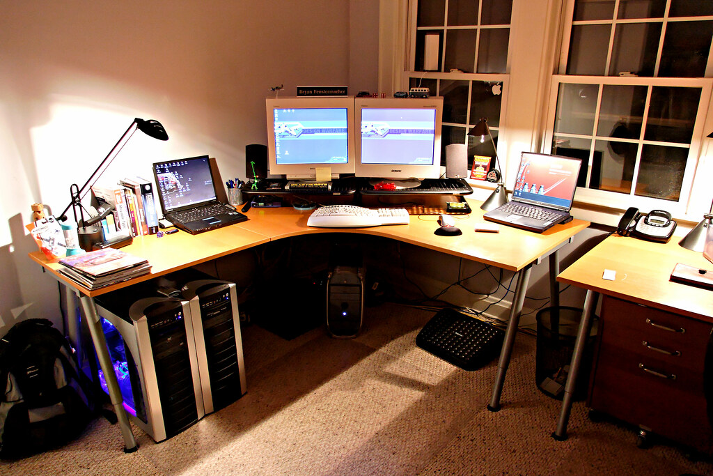 Home Office - My Desk - Old 2005