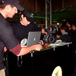 A Microsoft Xbox team and their Apple Powerbook