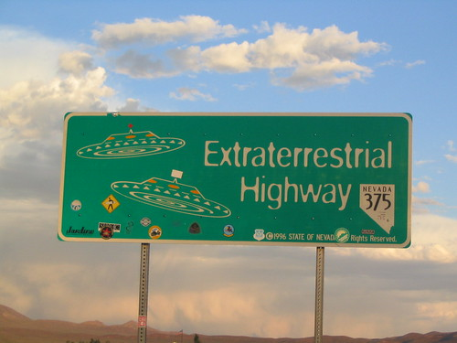 The Extraterrestrial Highway, Nevada State Route 375, Between Warm Springs and Crystal Springs, Nevada | by Ken Lund