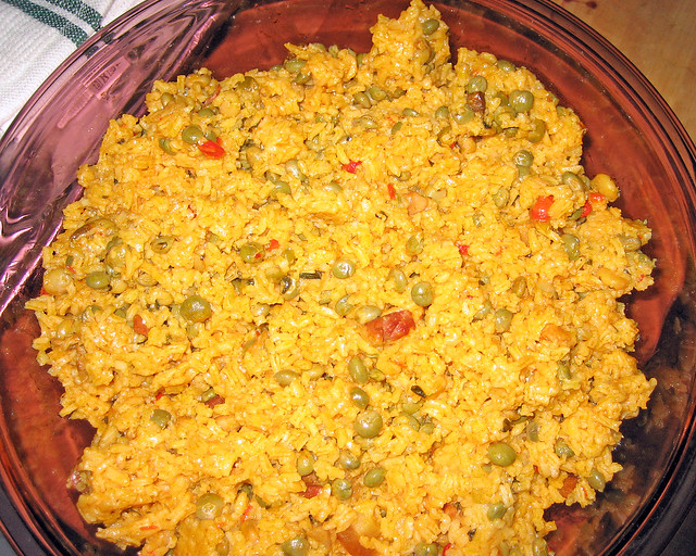 Arroz con gandules / Pigeon peas and rice | Flickr - Photo Sharing!