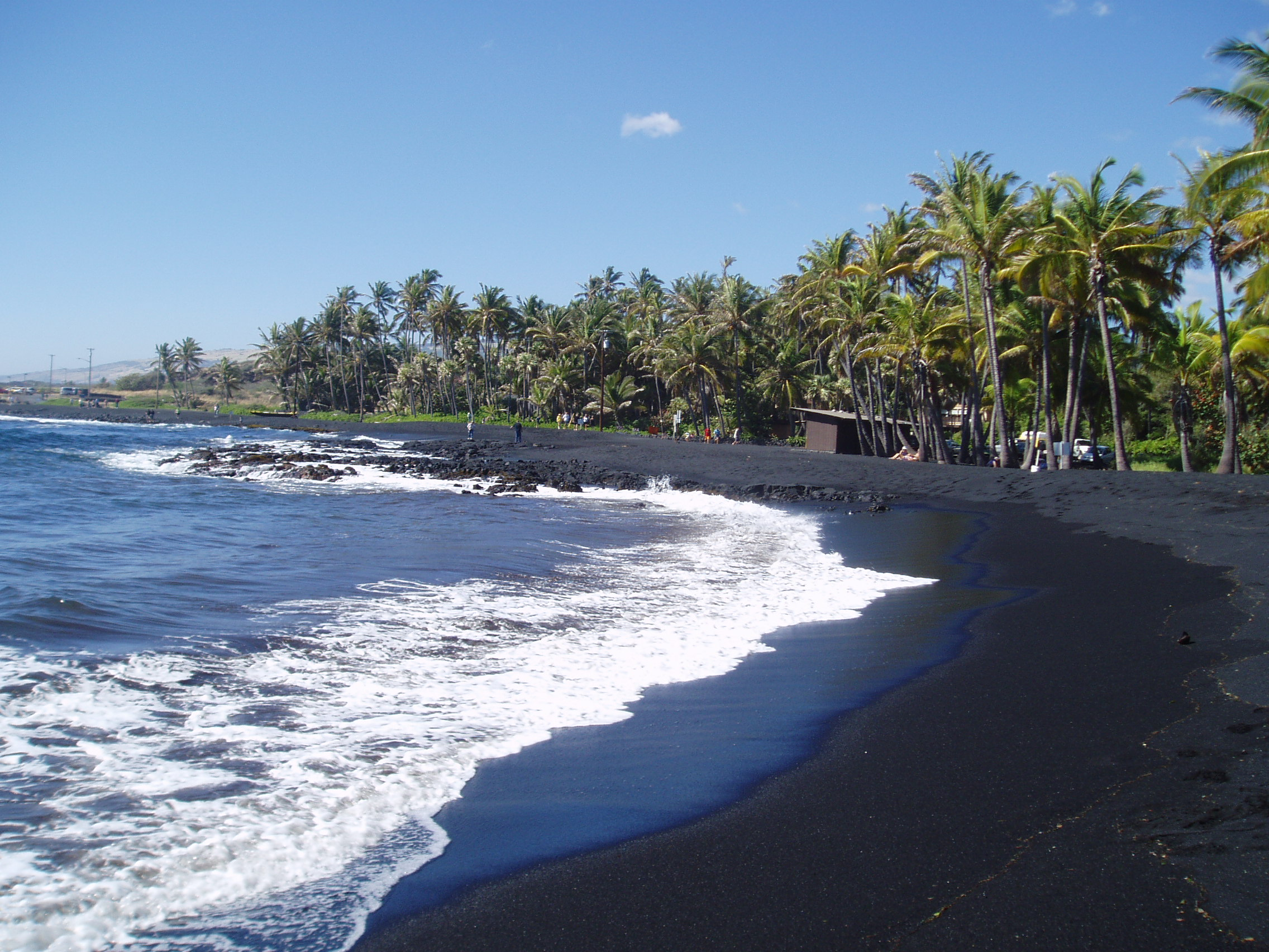 Punalu 39 u black sand beach flickr photo sharing Black sand beach hawaii