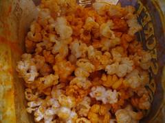 vegetable(0.0), produce(0.0), kettle corn(1.0), food(1.0), dish(1.0), cuisine(1.0), snack food(1.0), popcorn(1.0),
