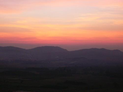 india sunsets karnataka bhadravati