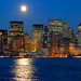 Moonrise Over Manhattan Island