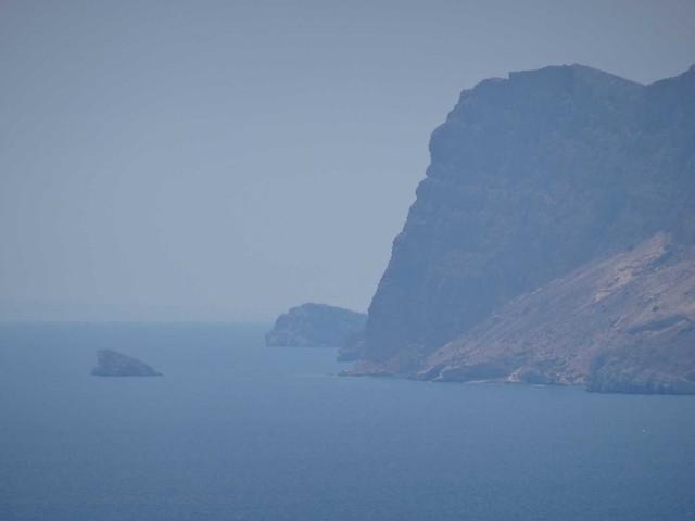 mouillage au pied des falaises