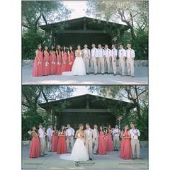 Paolo and Katrina had a rustic winery wedding at the Bernardo Winery in San Diego California.