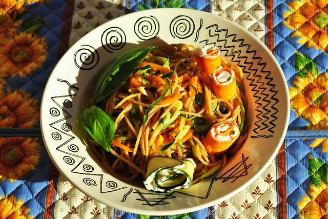 Sommerküche Brigitte : Gemüse spaghetti olio ed aglio « brigitte stolle