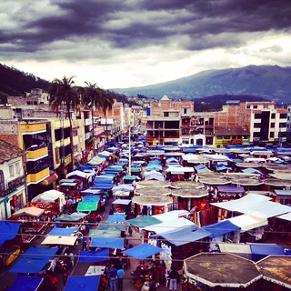 The sprawling weekend market at Otovalo