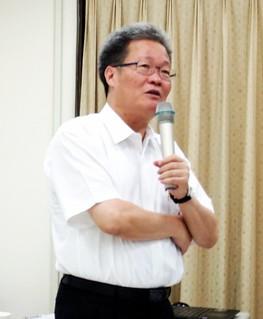 高雄市副市長陳金德回憶731氣爆當晚。攝影:李育琴。