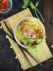 Octopus noodle soup