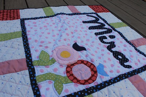 Mira Baby Flower Name Quilt