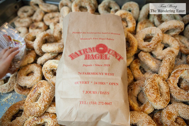 Bag of Fairmount bagels