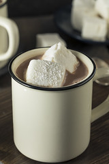 Warm Hot Chocolate with Square Marshmallows