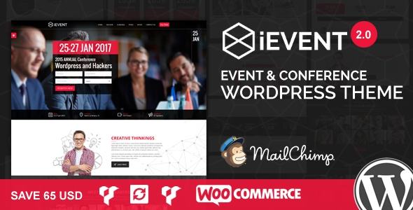 iEvent v2.0.2 – Event & Conference WordPress Theme