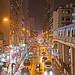 Rainy night at Yuen Long On Ning Road, Hong Kong