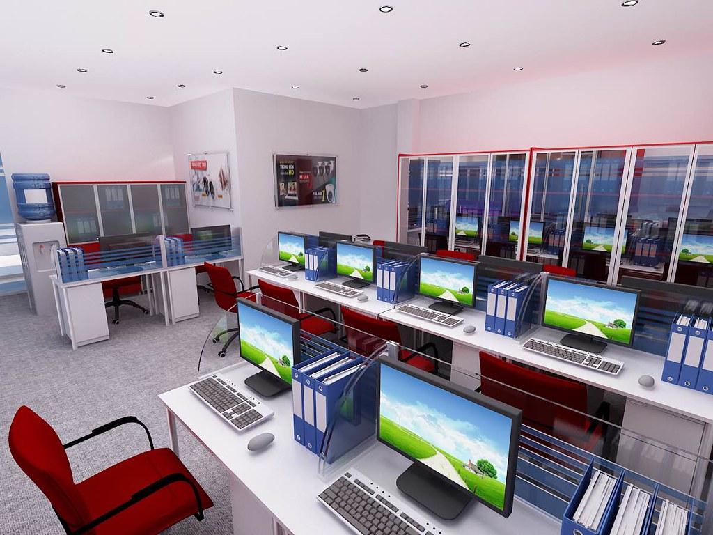 Thiết kế nội thất phòng marketing và kinh doanh
