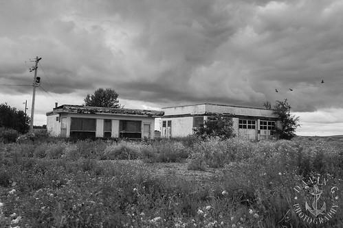 abandoned station rural blackwhite minburn alberta service hdr travelalberta davingphotography