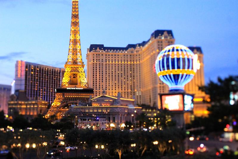 Classic Vegas Scene, in Tilt-Shift