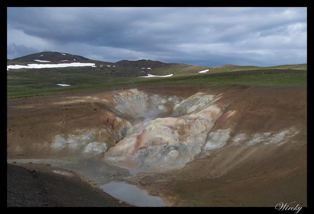 Solfatara en Volcán Krafla
