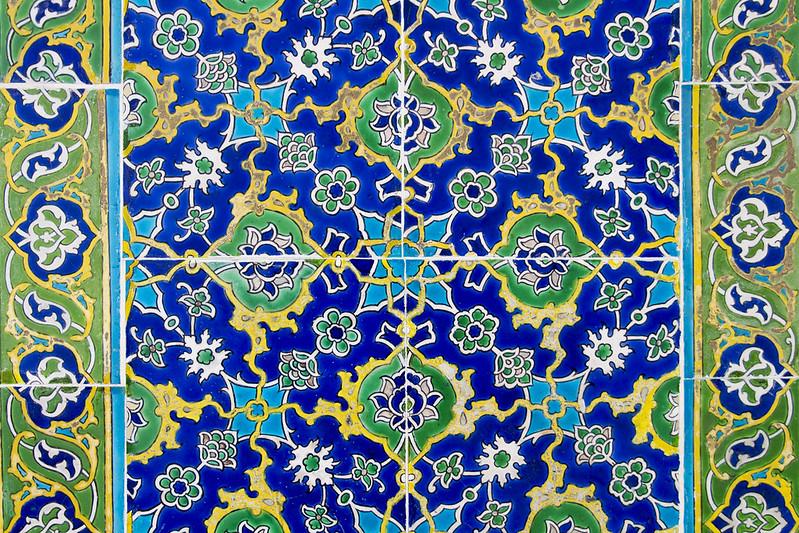 Hand decorated ceramic tiles in Topkapi Palace