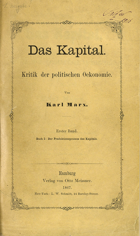 The title page of Das Kapital