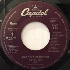 FREDDIE JACKSON:HEY LOVER(LABEL SIDE-A)