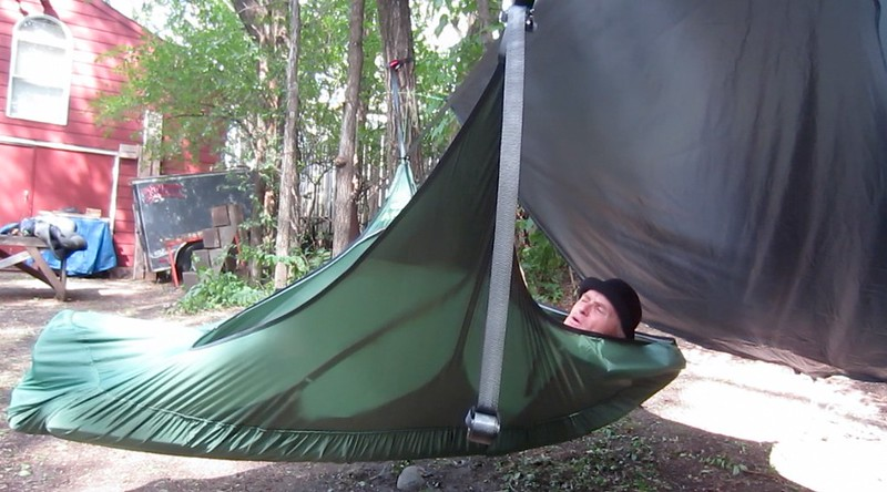 Medium image of one caveat is that the hammock is dependent on a pad for structure     https   www youtube   watch v u003dcfsgdstutau  just thought i would add it to your mix