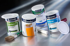 Paintainer packaging is being used for Akzo Spain's paint brands